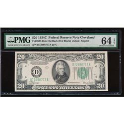 1934C $20 Cleveland Federal Reserve Note PMG 64EPQ