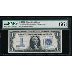 1934 $1 Silver Certificate PMG 66EPQ
