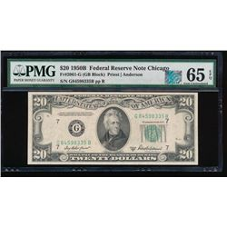 1950B $20 Chicago Federal Reserve Note PMG 65EPQ