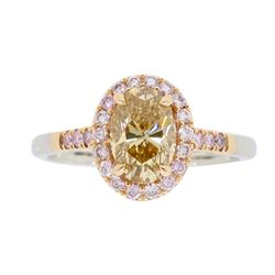 18KT Two Tone Rose and White Gold 1.25ctw Diamond Ring