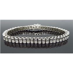 14KT White Gold 6.00ctw Diamond Bracelet