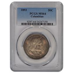 1893 Columbian Exposition Half Dollar Coin PCGS MS64