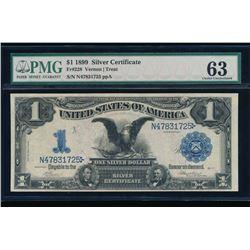1899 $1 Black Eagle Silver Certificate PMG 63