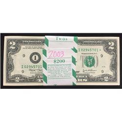 (100) Consecutive 2003 $2 Minneapolis Star Notes