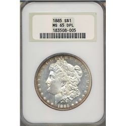 1885 $1 Morgan Silver Dollar Coin NGC MS65DPL