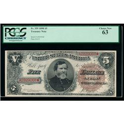 1890 $5 Treasury Note PCGS 63