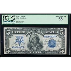 1899 $5 Chief Silver Certificate PCGS 58