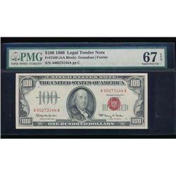 1966 $100 Legal Tender Note PMG 67EPQ