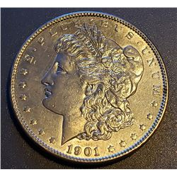 1901-P $1 Morgan Silver Dollar Coin