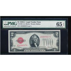1928A $2 Legal Tender Note PMG 65EPQ