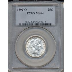 1892-O Barber Quarter Coin PCGS MS64