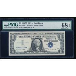 1957A $1 Silver Certificate Star Note PMG 68EPQ