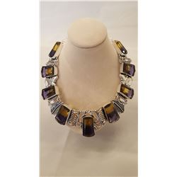 105ct Bi-Color Ametrine Necklace
