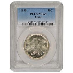 1935 Texas Commemorative Half Dollar Coin PCGS MS65