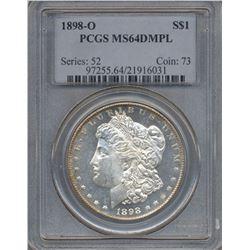1898-O $1 Morgan Silver Dollar Coin PCGS MS64DMPL