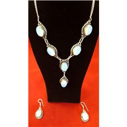 257ctw Opalatite Necklace And Earring Set