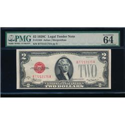 1928C $2 Legal Tender Note PMG 64