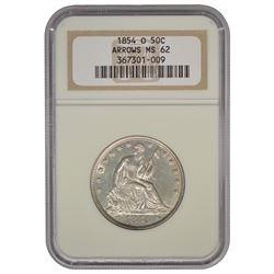 1854-O Seated Liberty Half Dollar Coin NGC MS62
