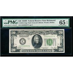 1928B $20 Richmond Federal Reserve Note PMG 65EPQ