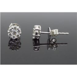 18KT White Gold 0.48ctw Diamond Earrings