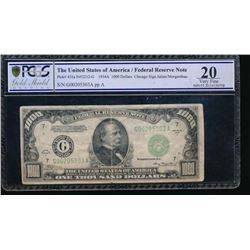 1934A $1000 Chicago Federal Reserve Note PCGS 20