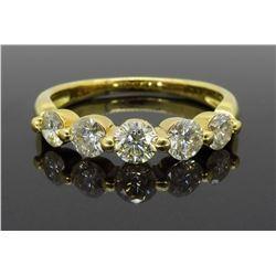 18KT Yellow Gold 1.00ctw Diamond Ring