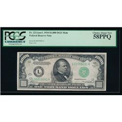 1934 $1000 Chicago Federal Reserve Note PCGS 58PPQ