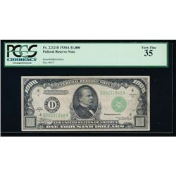1934A $1000 Cleveland Federal Reserve Note PCGS 35