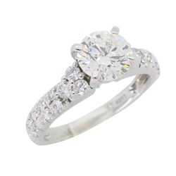 14KT White Gold 1.34ctw Diamond Ring