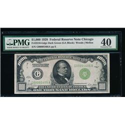 1928 $1000 Chicago Federal Reserve Note PMG 40