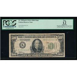 1934A $500 Dallas Federal Reserve Note PCGS 12