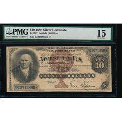 1880 $10 Silver Certificate PMG 15