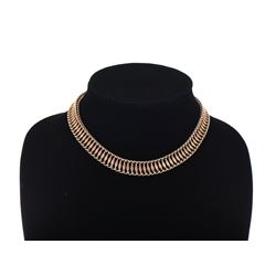 66 gram 14k Yellow Gold Art Deco 14 Inch Necklace