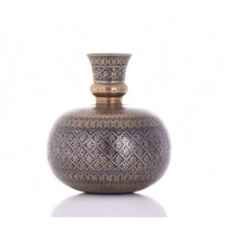 Exquisite Bronze Incised Persian Qajar