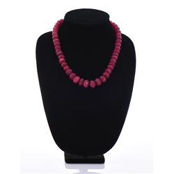 Burmese Faceted Ruby Necklace
