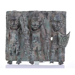 Benin Bronze Relief Sculpture.