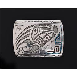 Hopi Picto Hallmark Sterling Silver Belt