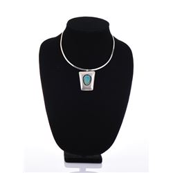 Sterling Silver Turquoise Shadowbox Necklace