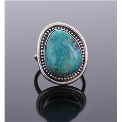 South West Blue Turquoise Sterling Silver Ring