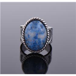 Lapis Lazuli Sterling Silver Ring.