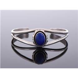 Sterling Silver Lapis Lazuli Cuff Bracelet