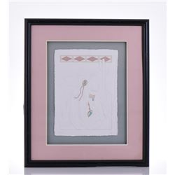 Artist Signed Embossed Paper Art