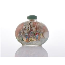 Large Reverse Painted Peking Glass Snuff