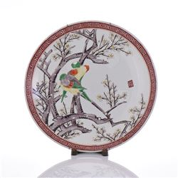 19th Century Famille Rose Porcelain Plate