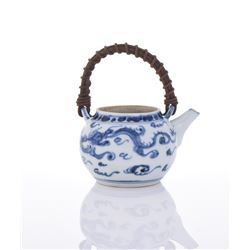 Blue & White Dragon Tea Pot