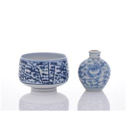 19th Century Two Blue And White Porcelain