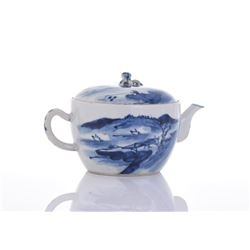 Qing Dynasty Blue And White Porcelain Tea Pot