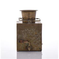19th Century Bronze Inscribed Tea Kettle