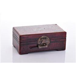 Red Lacquer Lock Box