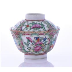 Antique Chinese Famille Rose Porcelain Tea Cup